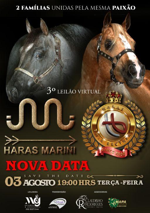 3° Leilao Virtual Haras Marini e Haras Twin Brothers